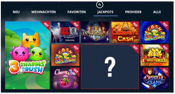 Spielautomaten mit verfügbarem Jackpot